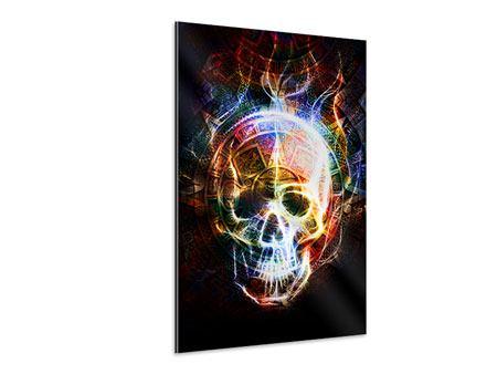 Aluminiumbild Psychedelic Skull