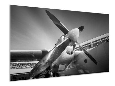 Aluminiumbild Nostalgisches Flugzeug