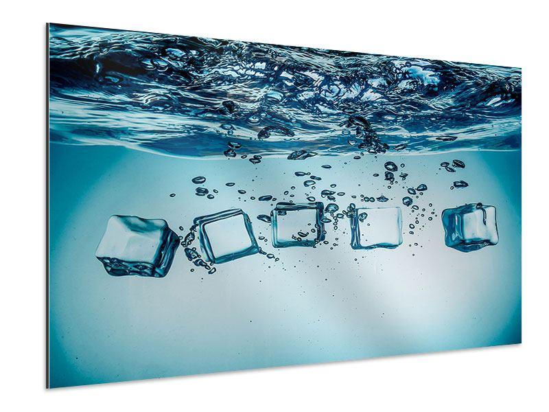 Aluminiumbild Eiswürfel-Quadro