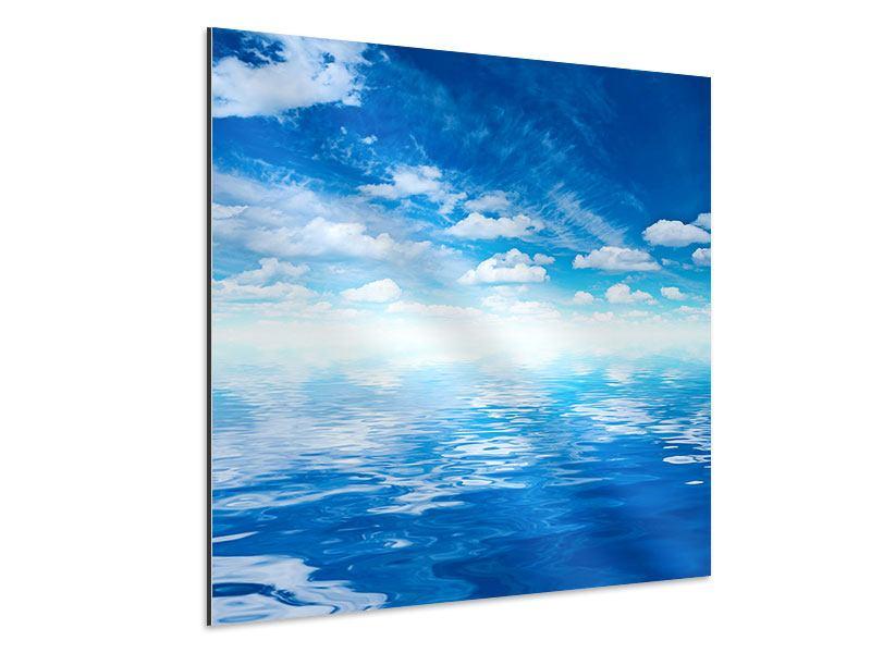 Aluminiumbild Himmel und Wasser