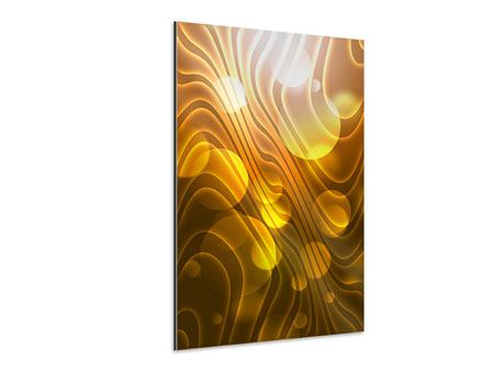 Aluminiumbild Abstrakte Kugelwellen