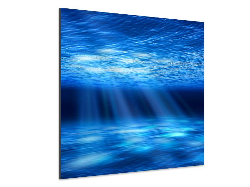 Aluminiumbild Licht unter Wasser