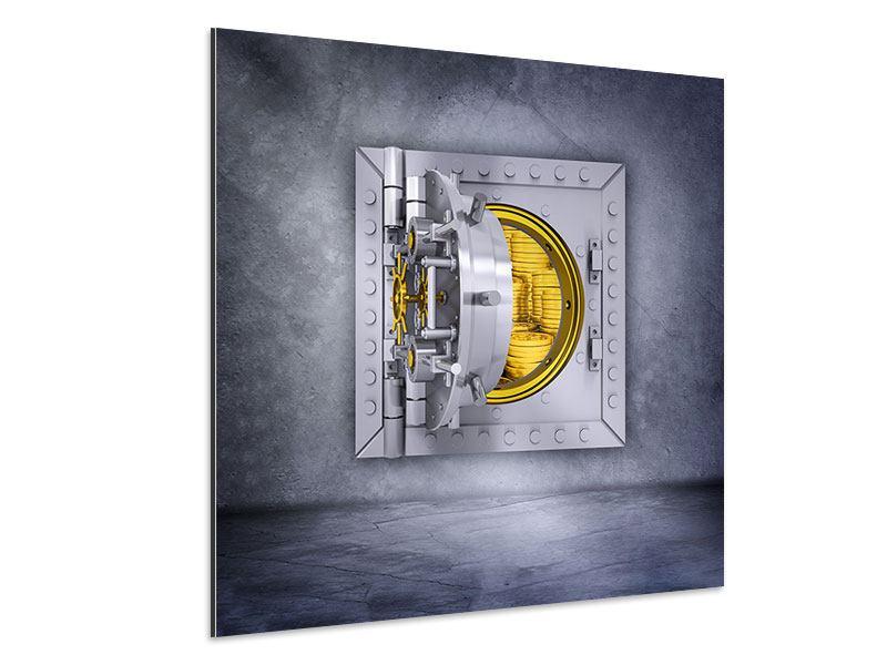 Aluminiumbild Gefüllter Tresor