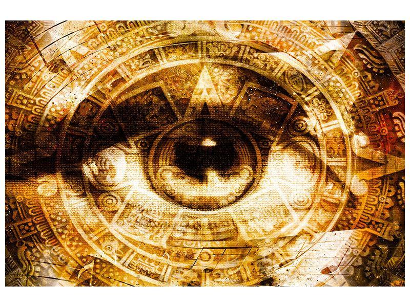 Aluminiumbild Fraktales Auge