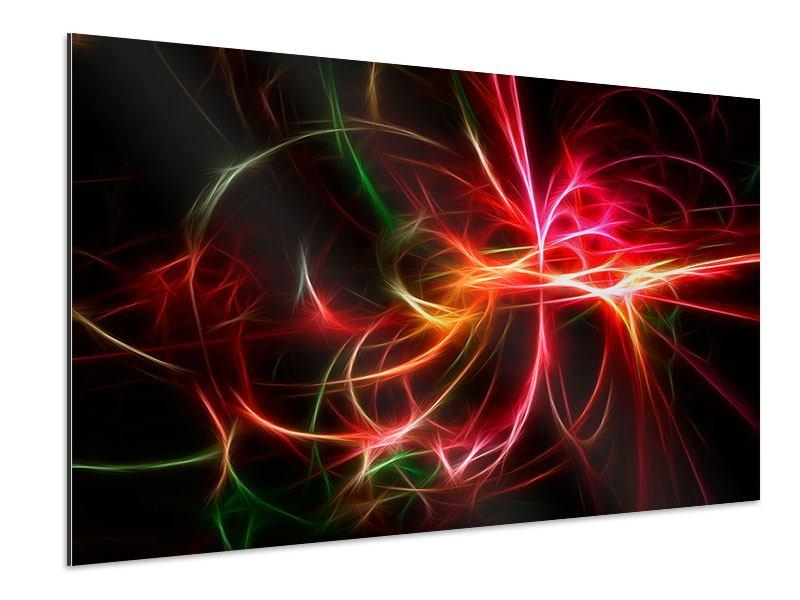 Aluminiumbild Fraktales Lichtspektakel