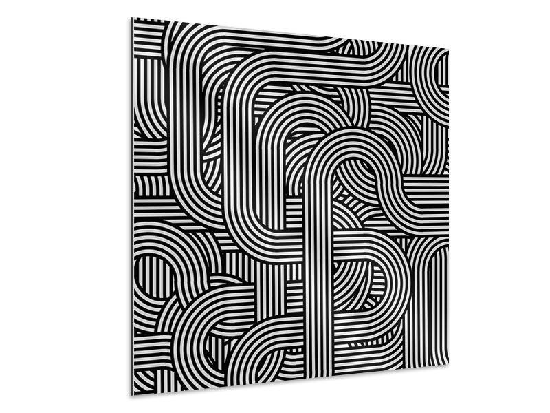 Aluminiumbild 3D Black & White