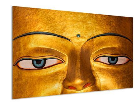 Aluminiumbild Die Augen eines Buddhas