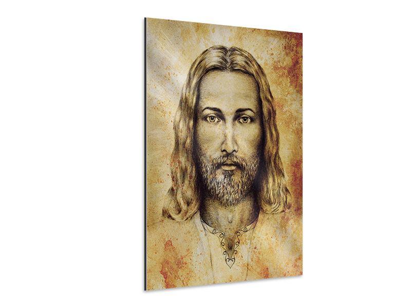 Aluminiumbild Jesus Gemälde