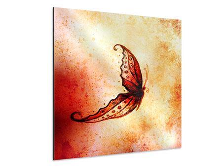 Aluminiumbild Butterfly Gemälde