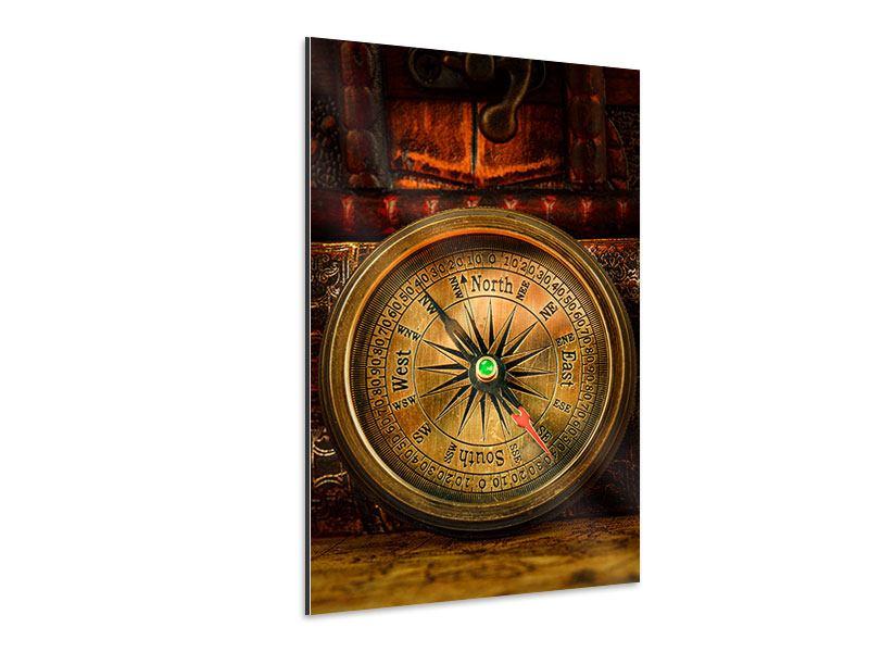 Aluminiumbild Antiker Kompass