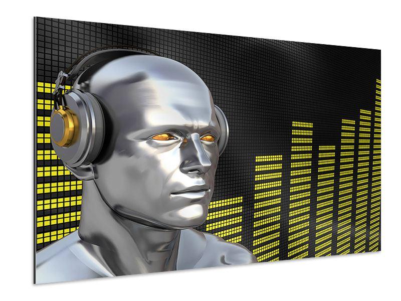 Aluminiumbild Futuristischer DJ