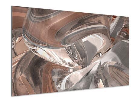 Aluminiumbild Abstraktes Glasfliessen