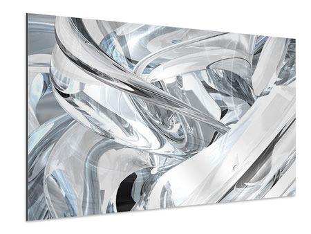 Aluminiumbild Abstrakte Glasbahnen
