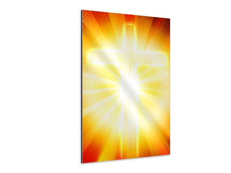 Aluminiumbild Heiliges Kreuz im Licht