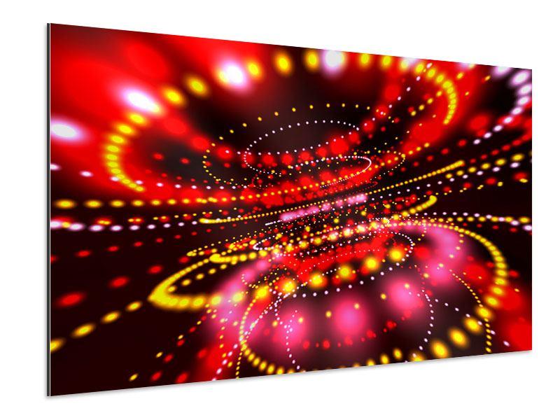 Aluminiumbild Abstraktes Lichtspiel