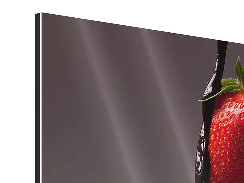 Aluminiumbild Erdbeer-Kuss