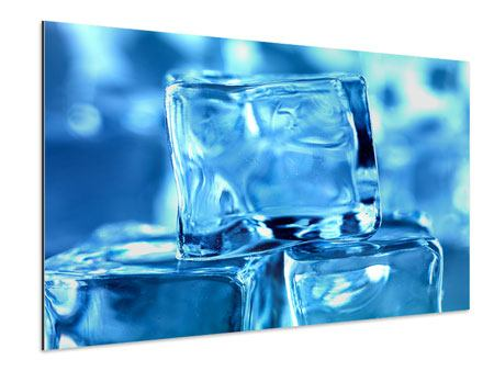 Aluminiumbild Eiswürfel XXL
