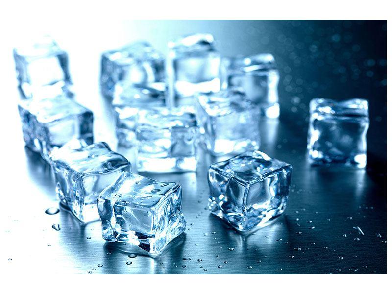 Aluminiumbild Viele Eiswürfel