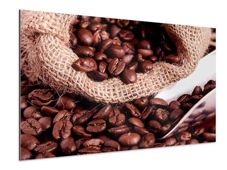 Aluminiumbild XXL Kaffeebohnen