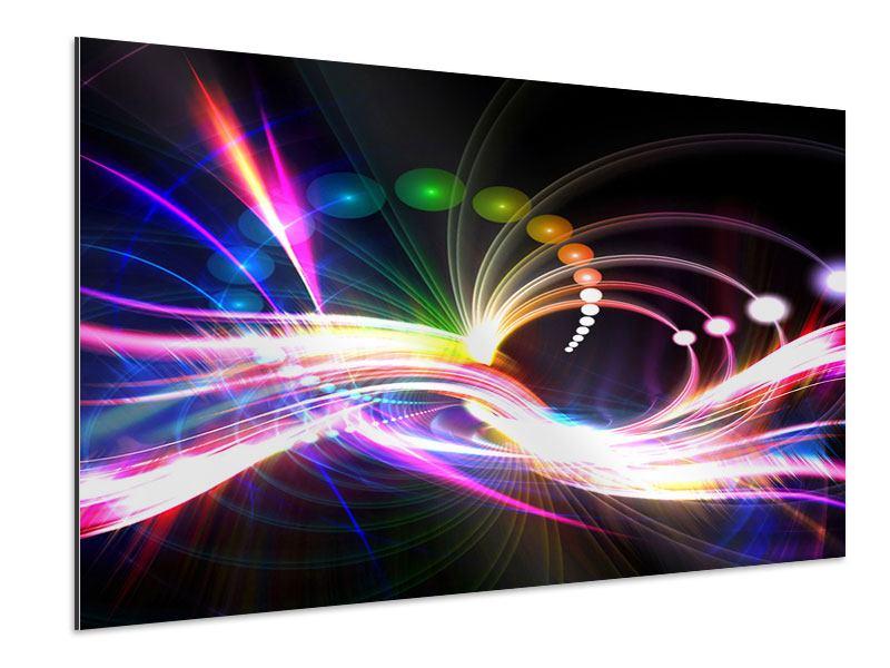 Aluminiumbild Abstrakte Lichtreflexe