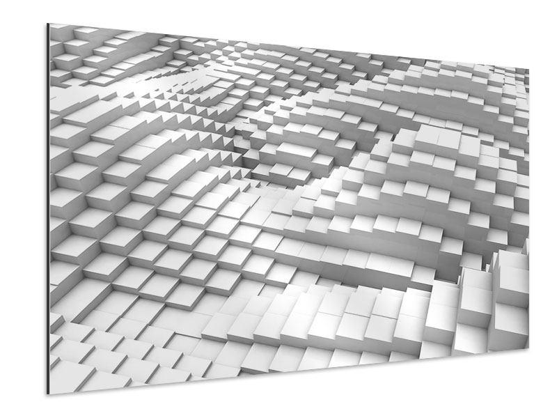 Aluminiumbild 3D-Elemente