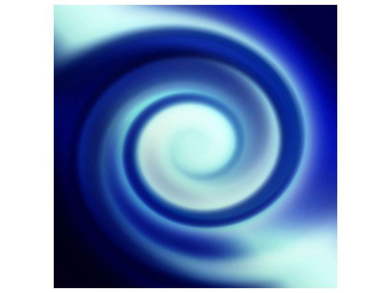 Aluminiumbild Abstrakte Blaue Wirbel