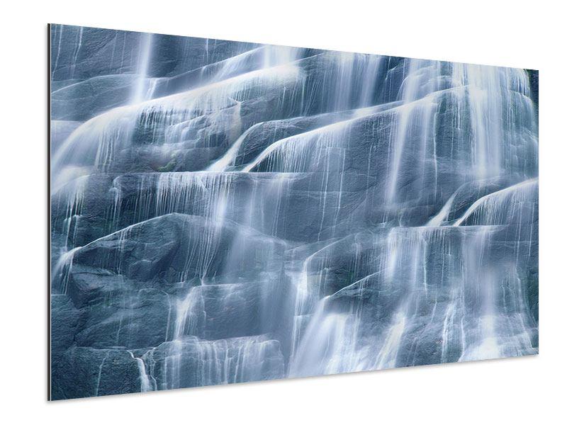 Aluminiumbild Grossartiger Wasserfall