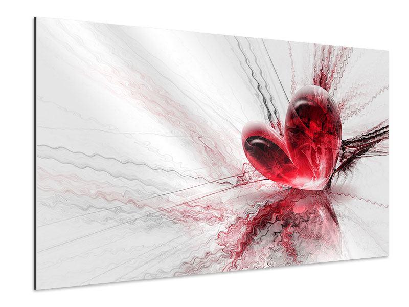Aluminiumbild Herzspiegelung