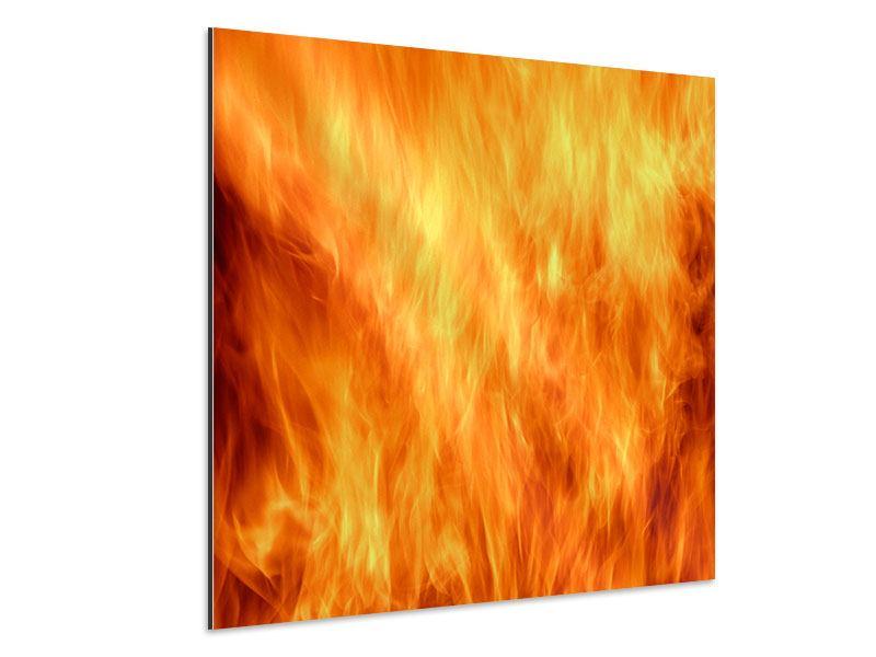 Aluminiumbild Flammen