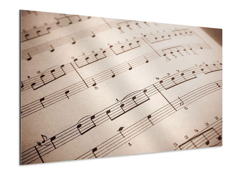 Aluminiumbild Das Notenblatt