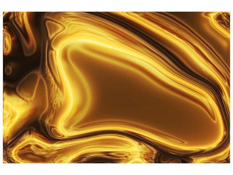 Aluminiumbild Abstrakt Flüssiges Gold