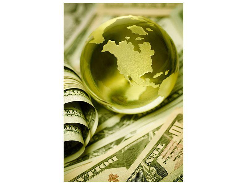 Aluminiumbild Geld regiert die Welt