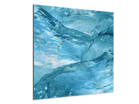 Aluminiumbild Cooler Eislook