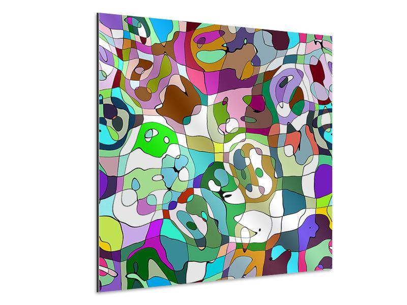 Aluminiumbild Kubistisches Gemälde