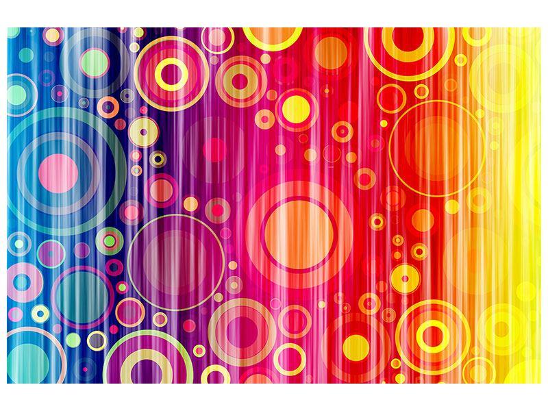Aluminiumbild Grunge-Retrokreise