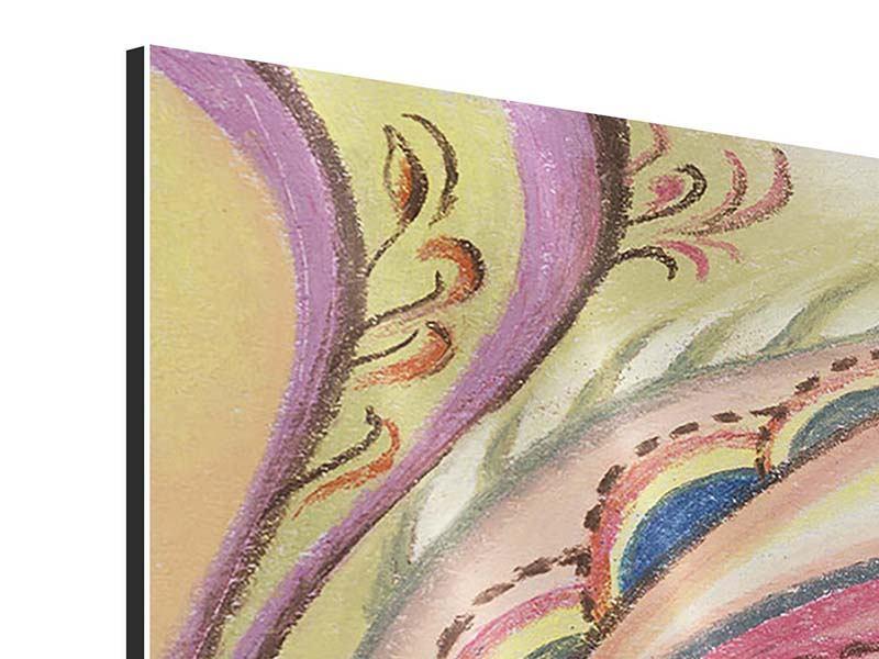 Aluminiumbild Paisley-Malerei
