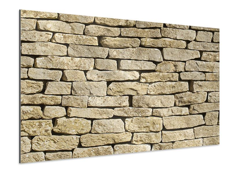 Aluminiumbild Alte Mauer