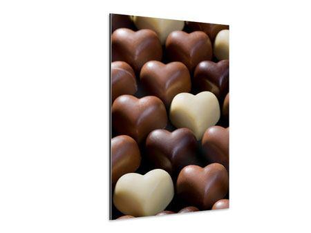 Aluminiumbild Süsse Herzen