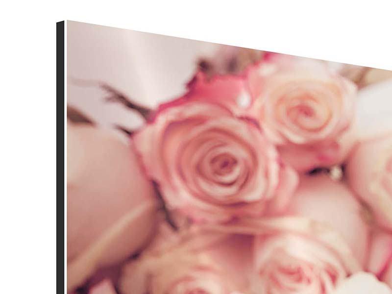 Aluminiumbild Rosen-Blütenblätter