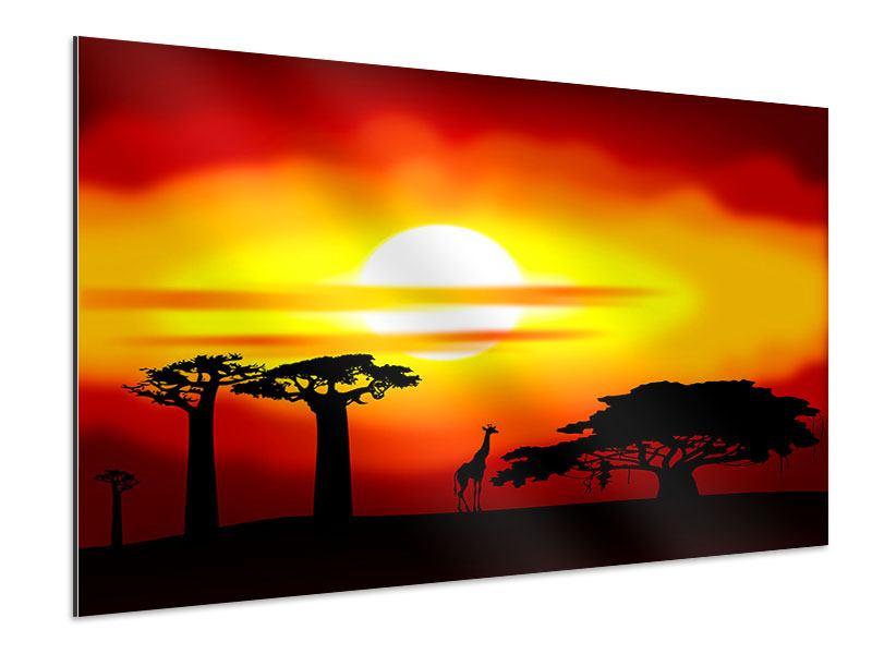 Aluminiumbild Faszination Afrika