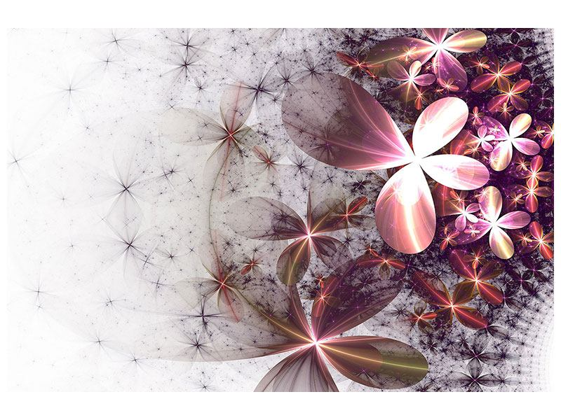 Aluminiumbild Abstrakte Blumen