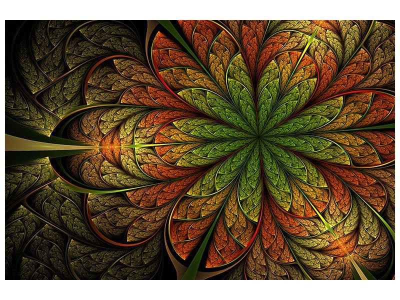 Aluminiumbild Abstraktes Blumenmuster