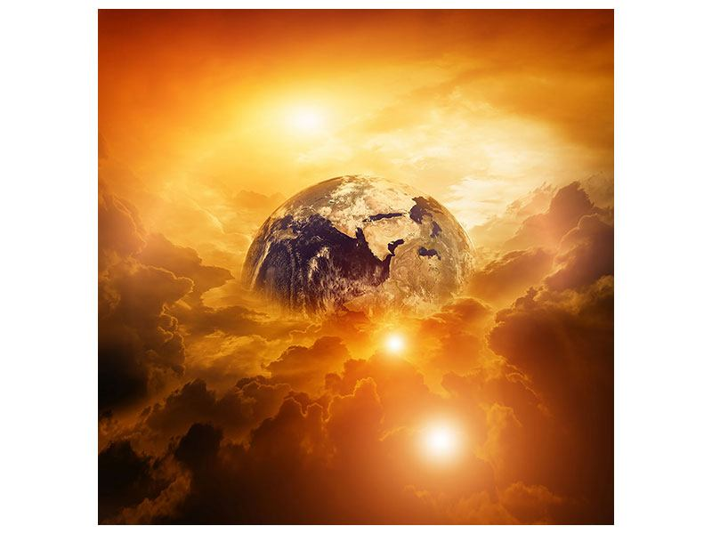 Aluminiumbild Mystischer Planet Erde