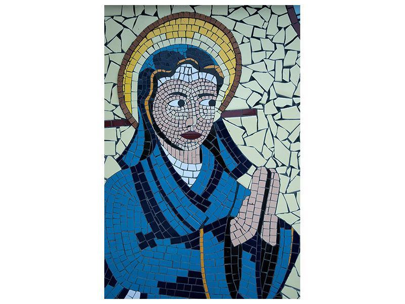 Aluminiumbild Jungfrau Maria Mosaik