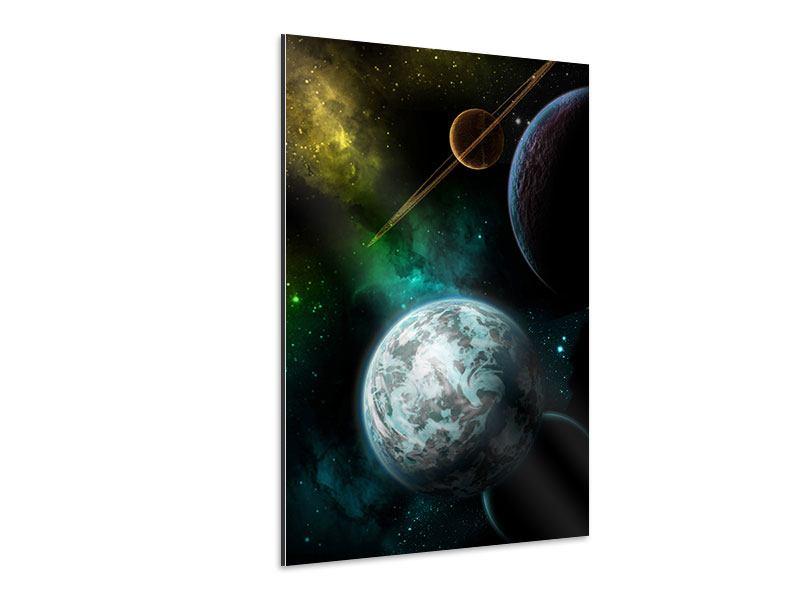 Aluminiumbild Der Weltraum