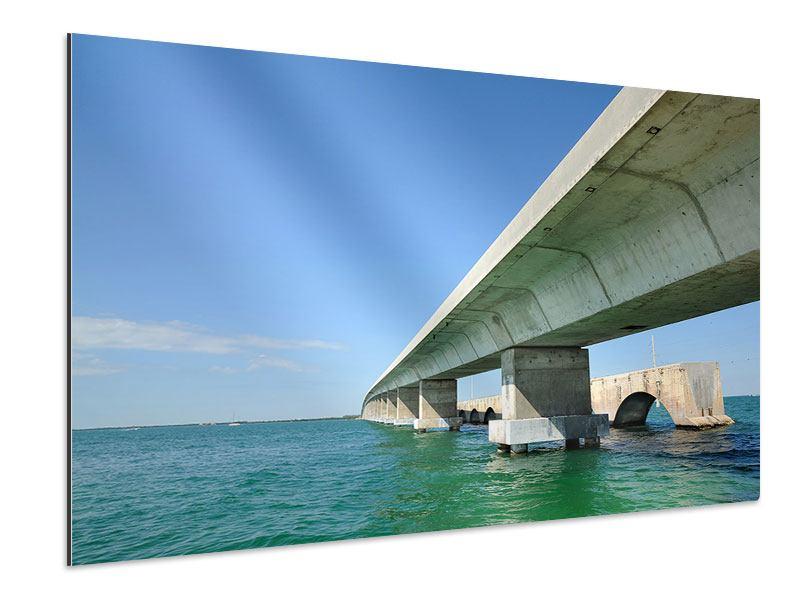 Aluminiumbild Seven Mile Bridge