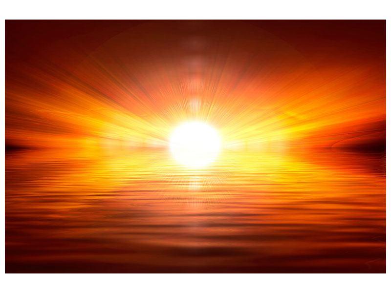 Aluminiumbild Glühender Sonnenuntergang
