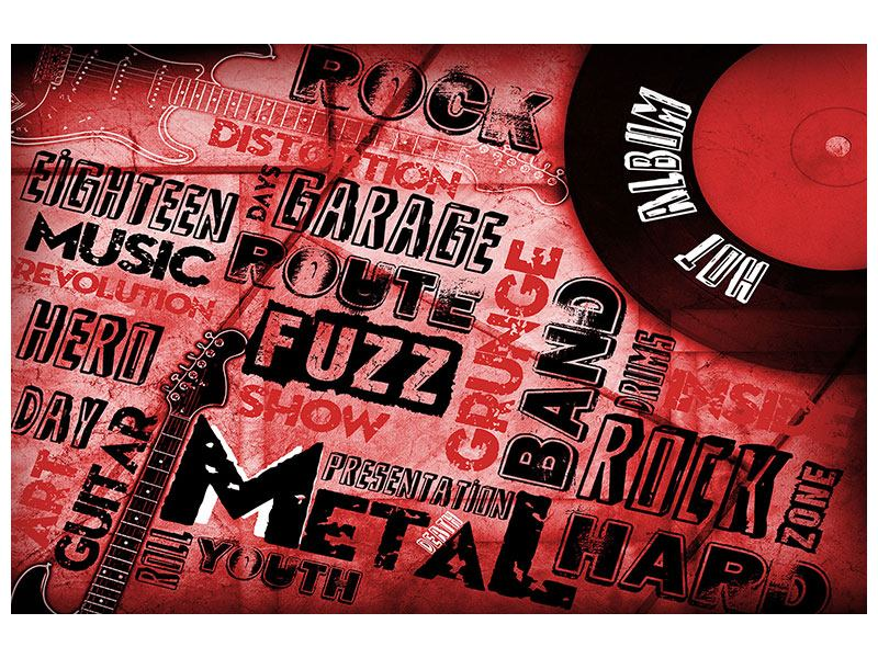 Aluminiumbild Writings Music Grunge