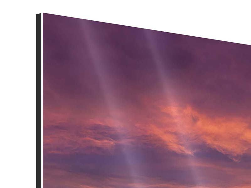 Aluminiumbild Abenddämmerung