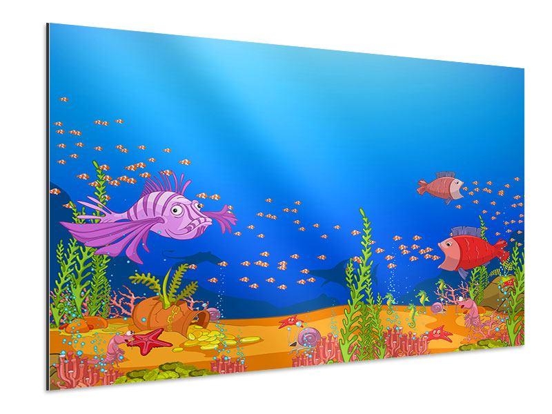 Aluminiumbild Der Schatz unter Wasser